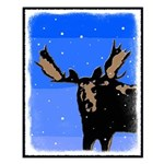 Winter Moose Small Poster