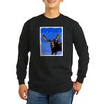 Winter Moose Long Sleeve Dark T-Shirt