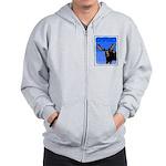 Winter Moose Zip Hoodie