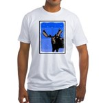 Winter Moose Fitted T-Shirt