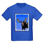 Winter Moose Kids Dark T-Shirt