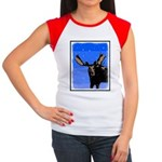 Winter Moose Junior's Cap Sleeve T-Shirt