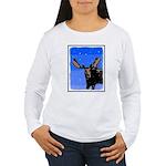 Winter Moose Women's Long Sleeve T-Shirt