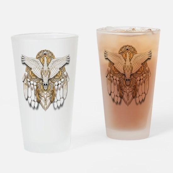Native American Swan Mandala Drinking Glass