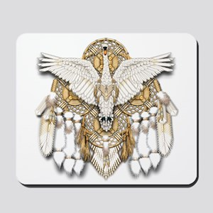 Native American Swan Mandala Mousepad