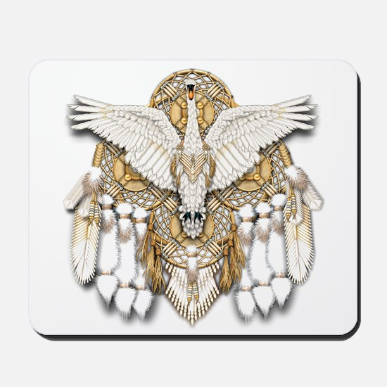 Native American Swan Mandala Mousepad