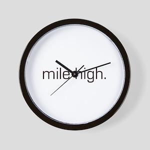 Mile High Wall Clock