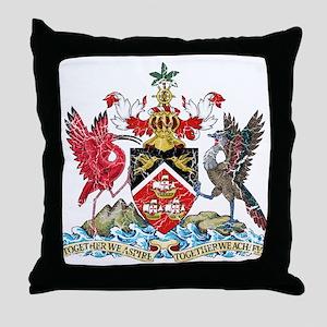 Trinidad and Tobago Coat Of Arms Throw Pillow