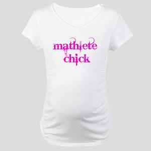 Mathlete Chick Maternity T-Shirt