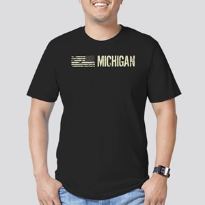 Black Flag: Michigan Men's Fitted T-Shirt (dark)