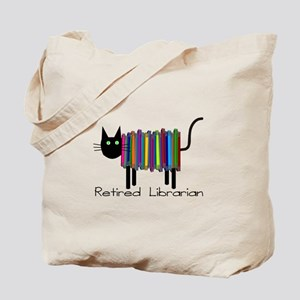 Retired Librarian Book Cat.PNG Tote Bag