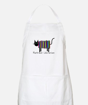 Retired Librarian Book Cat.PNG Apron
