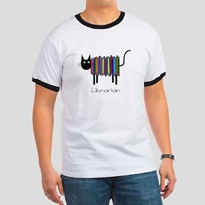 Librarian Book Cat Ringer T