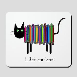 Librarian Book Cat Mousepad