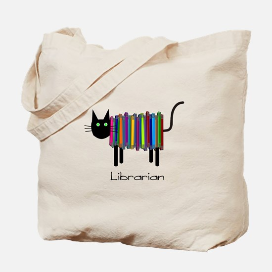 Librarian Book Cat.PNG Tote Bag