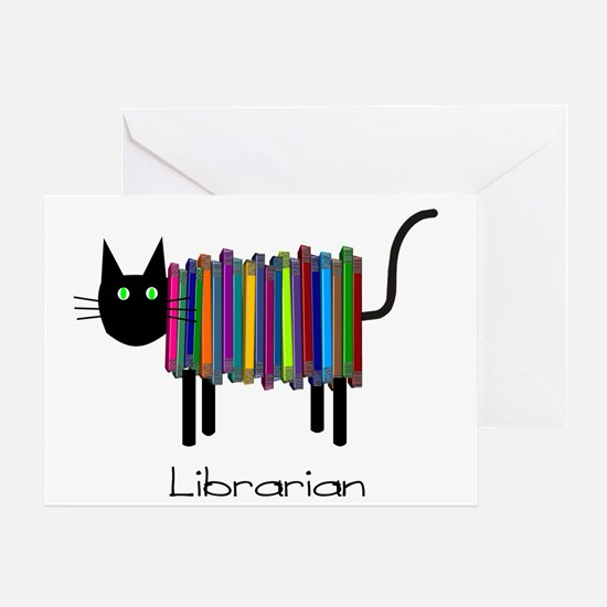 Librarian Book Cat.PNG Greeting Card
