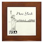 New York Framed Tile