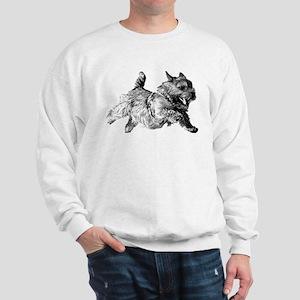 Running Norwich Terrier Male Sweatshirt