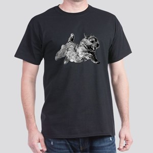 Running Norwich Terrier Male Dark T-Shirt
