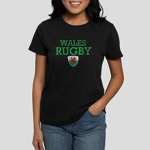 Wales Rugby designs Women's Dark T-Shirt