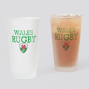 Wales Rugby designs Drinking Glass