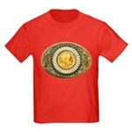Indian gold oval 1 Kids Dark T-Shirt
