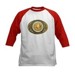 Indian gold oval 1 Kids Baseball Jersey