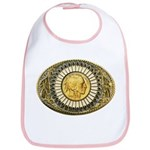 Indian gold oval 1 Bib