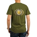 Indian gold oval 1 Organic Men's T-Shirt (dark)