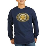 Indian gold oval 1 Long Sleeve Dark T-Shirt