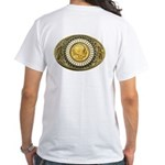 Indian gold oval 1 White T-Shirt