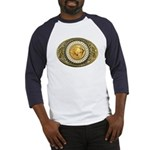 Indian gold oval 1 Baseball Jersey