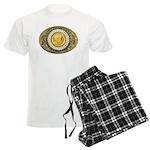 Indian gold oval 1 Men's Light Pajamas