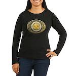 Indian gold oval 1 Women's Long Sleeve Dark T-Shir