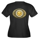 Indian gold oval 1 Women's Plus Size V-Neck Dark T