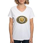Indian gold oval 1 Women's V-Neck T-Shirt
