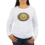 Indian gold oval 1 Women's Long Sleeve T-Shirt