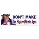 One Big Ass Mistake Again Sticker (Bumper)