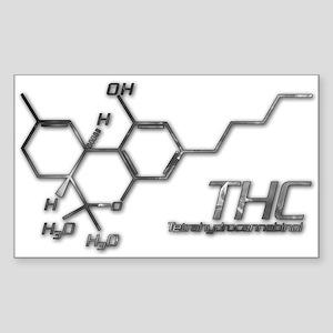 THC Molecule Smoke for light materials Sticker (Re