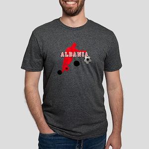 Albania Football Player Mens Tri-blend T-Shirt