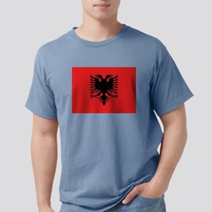 Flag of Albania Mens Comfort Colors Shirt