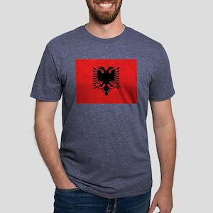 Flag of Albania Mens Tri-blend T-Shirt