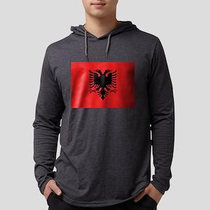 Flag of Albania Mens Hooded Shirt