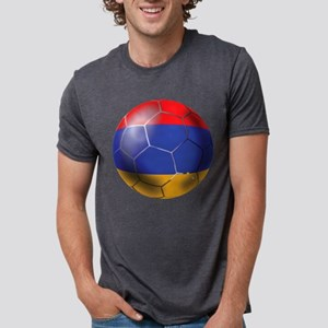 Armenia Soccer Ball Mens Tri-blend T-Shirt