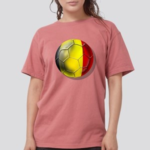 Belgium Football Womens Comfort Colors Shirt