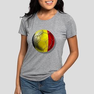 Belgium Football Womens Tri-blend T-Shirt