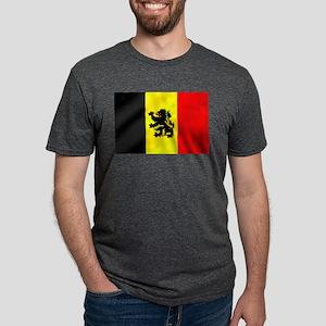 Belgian Lion Flag Mens Tri-blend T-Shirt