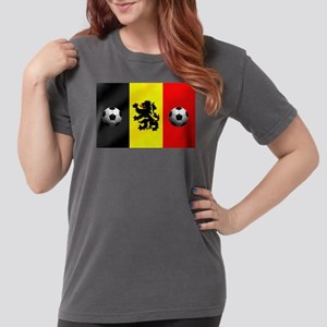 Belgian Football Flag Womens Comfort Colors Shirt