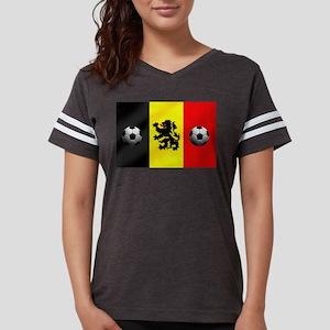 Belgian Football Flag Womens Football Shirt
