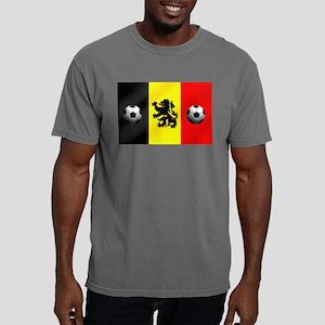 Belgian Football Flag Mens Comfort Colors Shirt